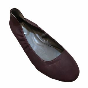 EILEEN FISHER Ballet Flat Leather Eggplant Plum